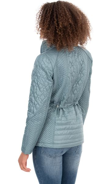 Zip Up Quilted Coat