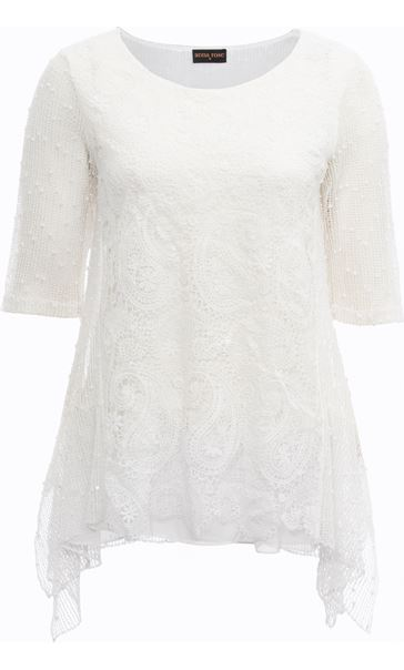 Anna Rose Lace Front Tunic White - Gallery Image 3