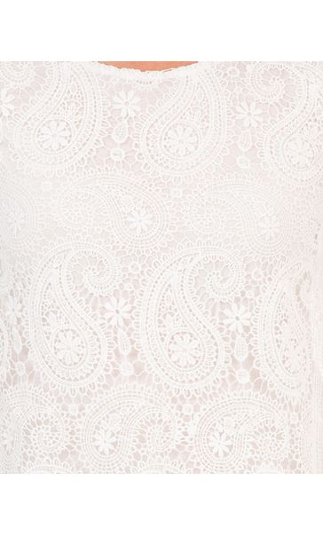 Anna Rose Lace Front Tunic White - Gallery Image 4