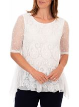 Anna Rose Lace Front Tunic