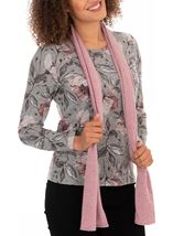 Anna Rose Printed Top With Scarf
