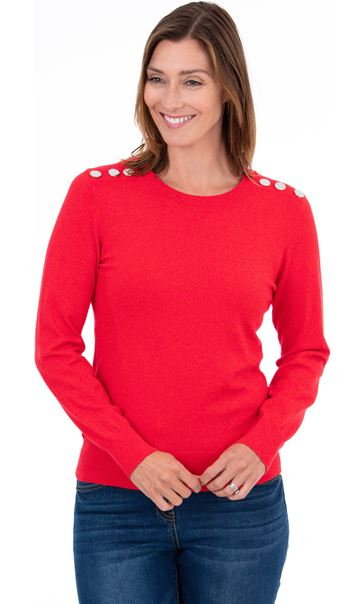 Long Sleeve Knitted Top Red