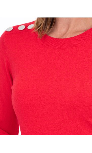 Long Sleeve Knitted Top Red - Gallery Image 3
