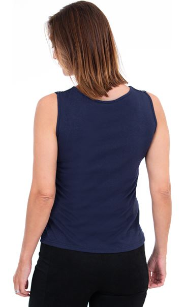 Embellished Sleeveless Top Midnight - Gallery Image 2