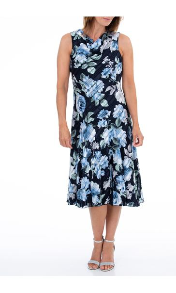 Anna Rose Bias Cut Floral Midi Dress Midnight/Multi