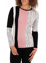 Anna Rose Multi Print Knitted Top