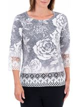 Anna Rose Lace Knitted Top