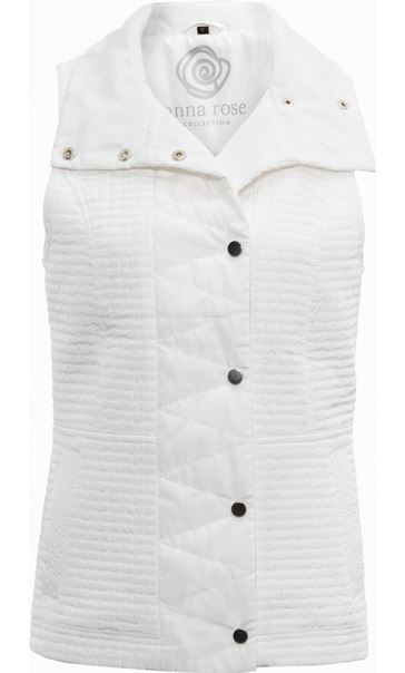 Anna Rose Quilted Gilet Ivory - Gallery Image 3