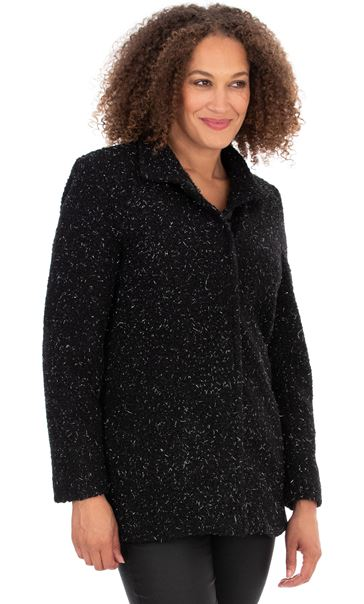Textured Shimmer Coat Grey - Gallery Image 1