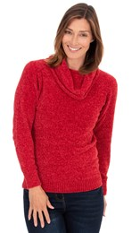 Cowl Neck Chenille Top