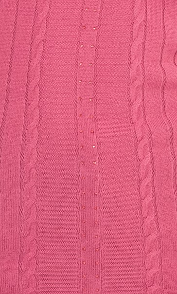 Anna Rose Embellished Knit Top Raspberry - Gallery Image 4