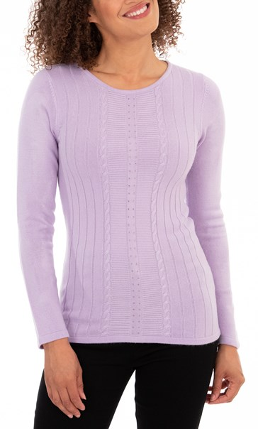 Anna Rose Embellished Knit Top - Pale Lilac