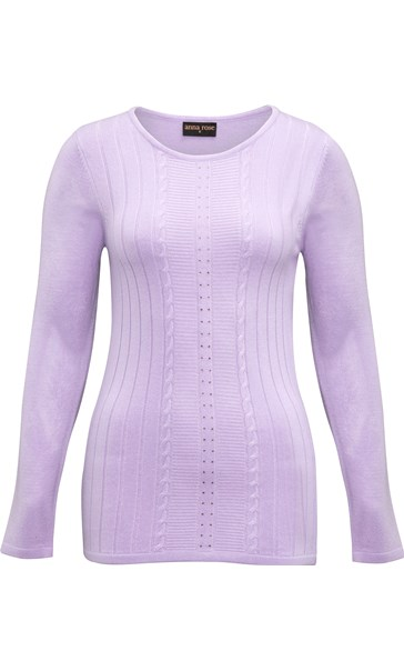 Anna Rose Embellished Knit Top Pale Lilac - Gallery Image 3