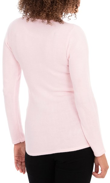 Anna Rose Embellished Knit Top - Pale Pink