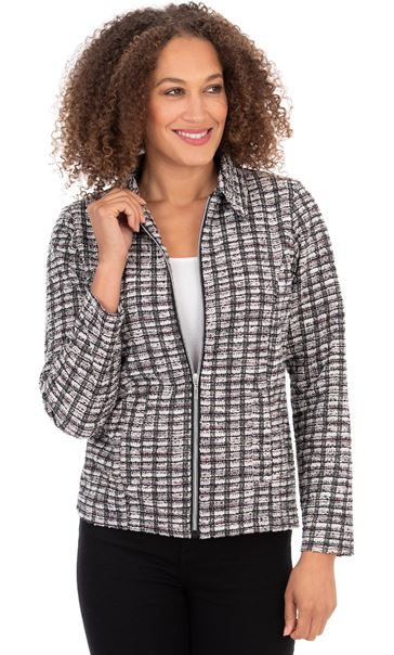 Stripe Zip Front Jacket