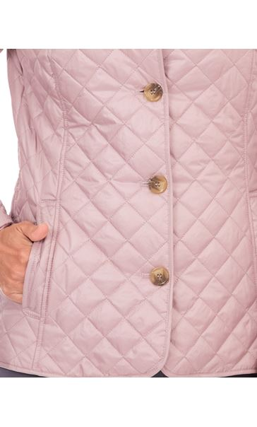 Anna Rose Quilted Fitted Jacket Faded Rose - Gallery Image 4