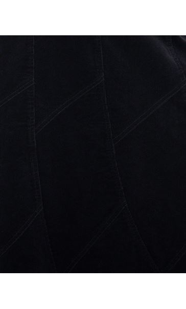 Panelled Cord Maxi Skirt Black - Gallery Image 3