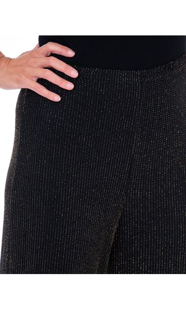 Sparkle Ribbed Wide Leg Trousers Black/Gold - Gallery Image 3