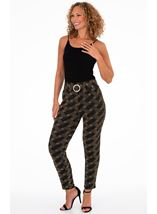 Stretch Tapered Sparkle Trousers