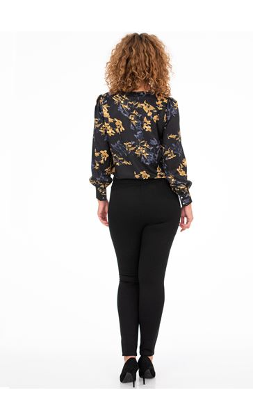 Pull On Ponte Trousers Black - Gallery Image 2