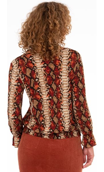 Smocked Blouse Rust/Black - Gallery Image 2