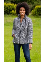Baroque Print Quilted Jacket