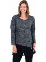 Double Layer Pleated Tunic