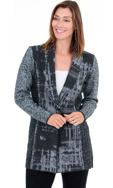 Long Sleeve Blanket Stitch Cardigan