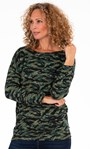 Printed Zip Back Knitted Tunic Greens - Gallery Image 1