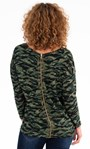 Printed Zip Back Knitted Tunic Greens - Gallery Image 2