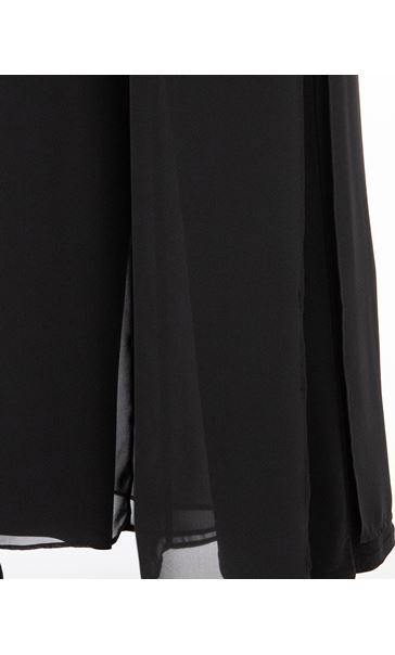 Anna Rose Wide Leg Chiffon Overlayer Trousers Black - Gallery Image 3