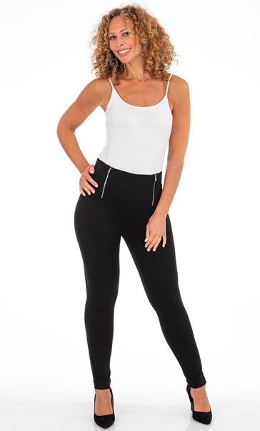 Pull On Ponte Trousers Black
