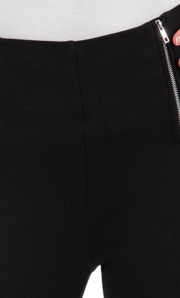 Pull On Ponte Trousers Black - Gallery Image 3