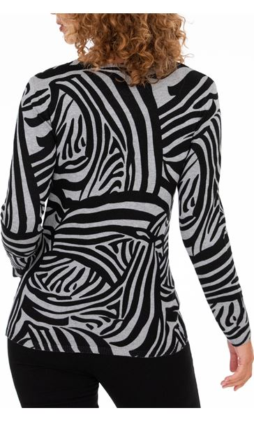 Anna Rose Zebra Print Top