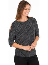 Sparkle Batwing Banded Top