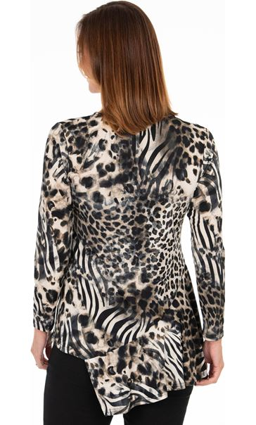 Dipped Hem Animal Print Tunic