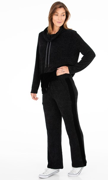 Supersoft Chenille Lounge Trousers Black