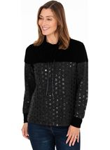 Funnel Neck Embellished Top