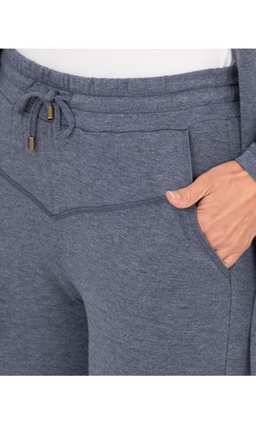Jersey Slim Fit Trousers Blue/Grey - Gallery Image 3