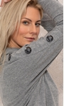 Cowl Neck Oversized Knit Tunic Grey Marl - Gallery Image 3