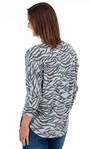 Animal Print Sparkle Batwing Top Grey - Gallery Image 2