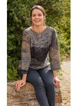 Knitted Three Quarter Length Sleeve Top