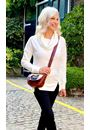 Supersoft Cowl Neck Zip Detail Top Ivory - Gallery Image 1