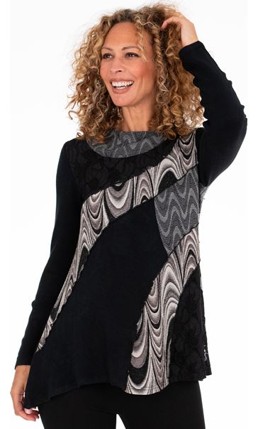 Cowl Neck Layered Tunic