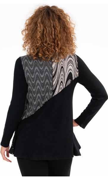 Cowl Neck Layered Tunic Black - Gallery Image 3