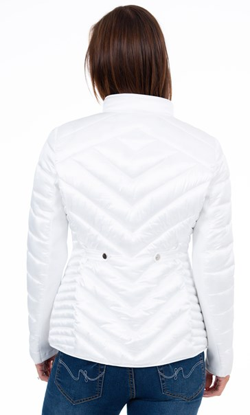 Quilted Short Jacket Ivory - Gallery Image 3