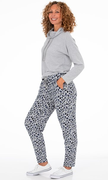 Animal Print Joggers Blue/Grey Animal - Gallery Image 2