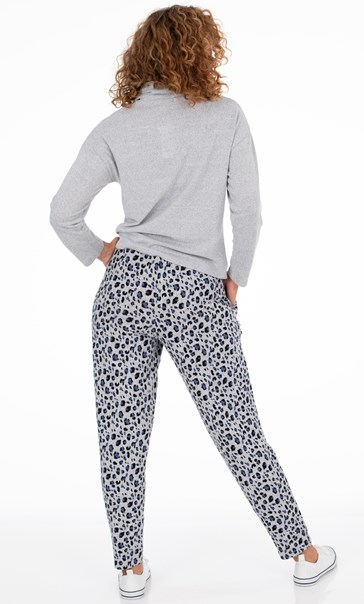Animal Print Joggers Blue/Grey Animal - Gallery Image 3