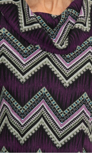 Anna Rose Wrap Front Printed Top Purple Multi - Gallery Image 2