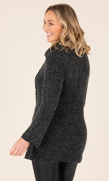 Textured Cowl Neck Tunic Grey - Gallery Image 3